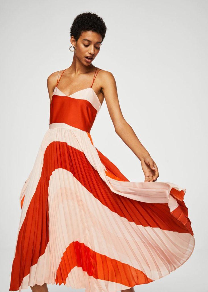 Plissiertes Kleid | MANGO