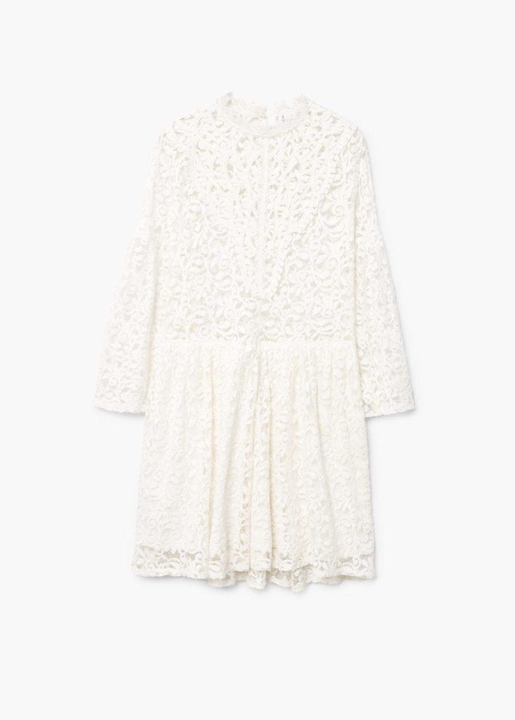 Kurzes Kleid aus Spitze | MANGO