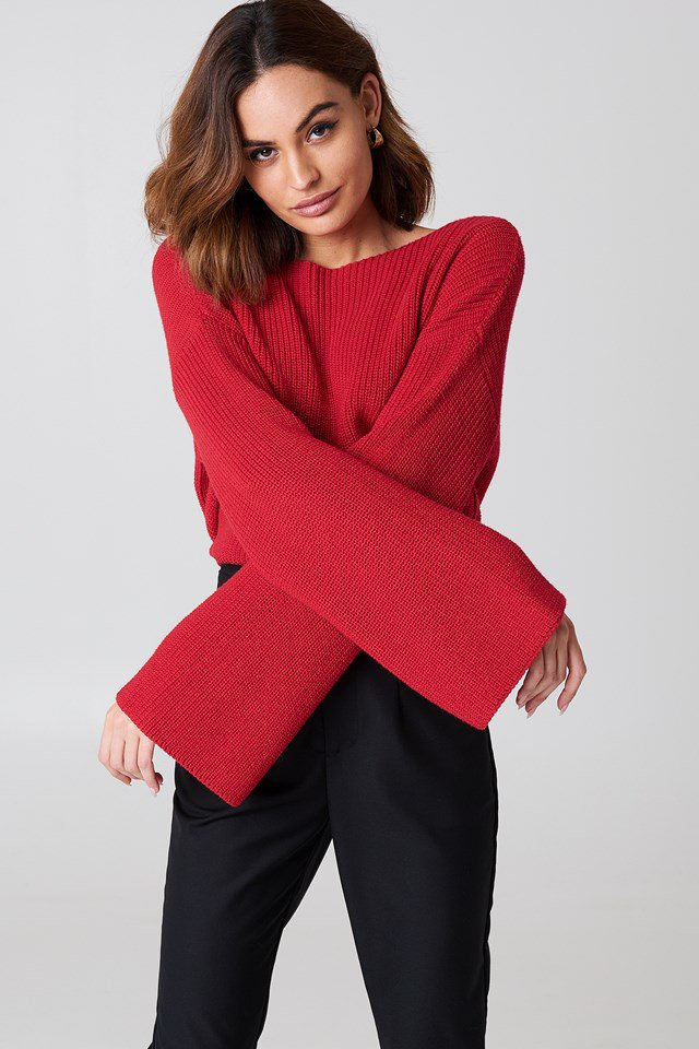 Cropped Long Sleeve Pullover | NA-KD