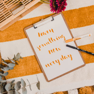 in high fashion laune | Handlettering lernen