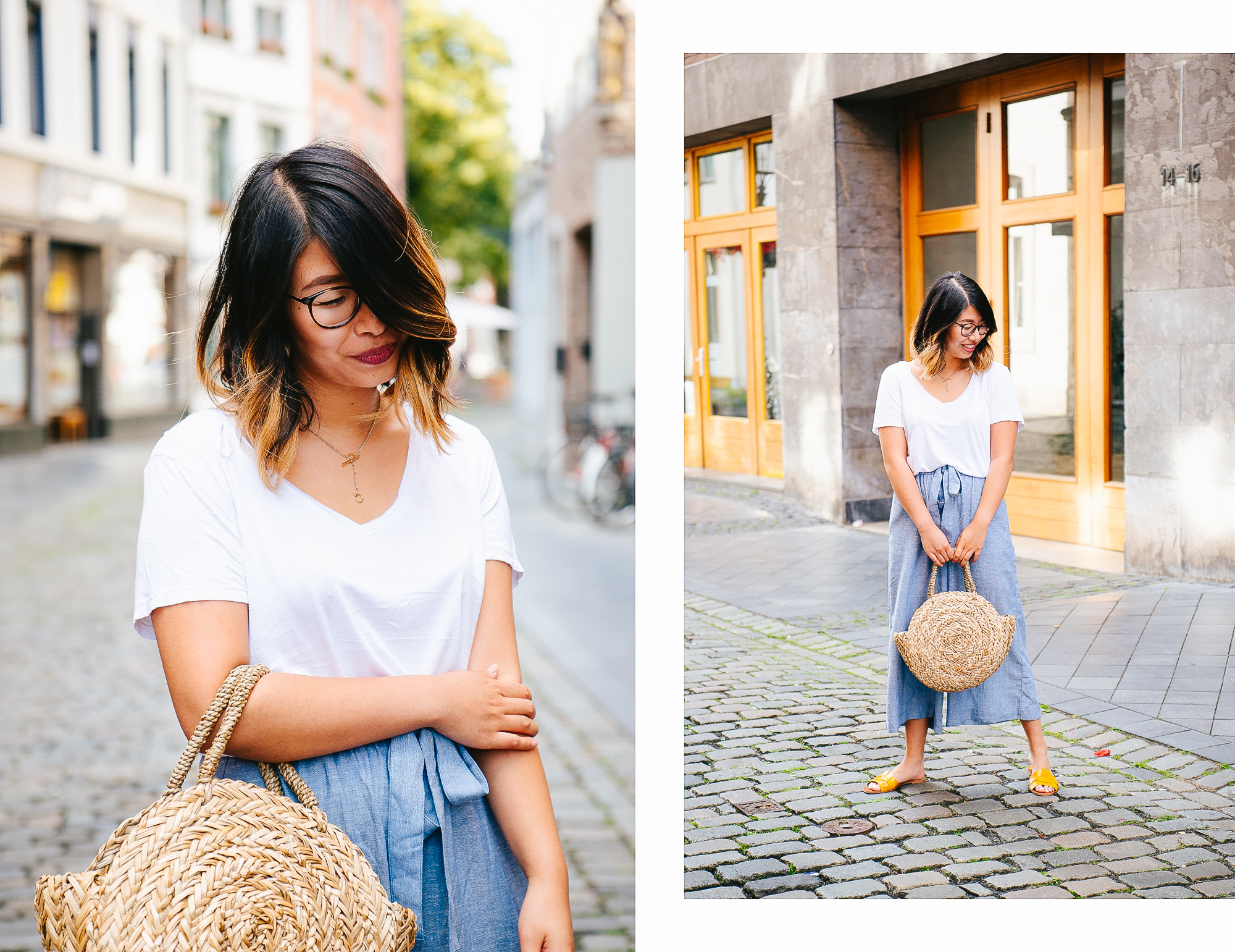 in high fashion laune | Outfit Leinen Culottes