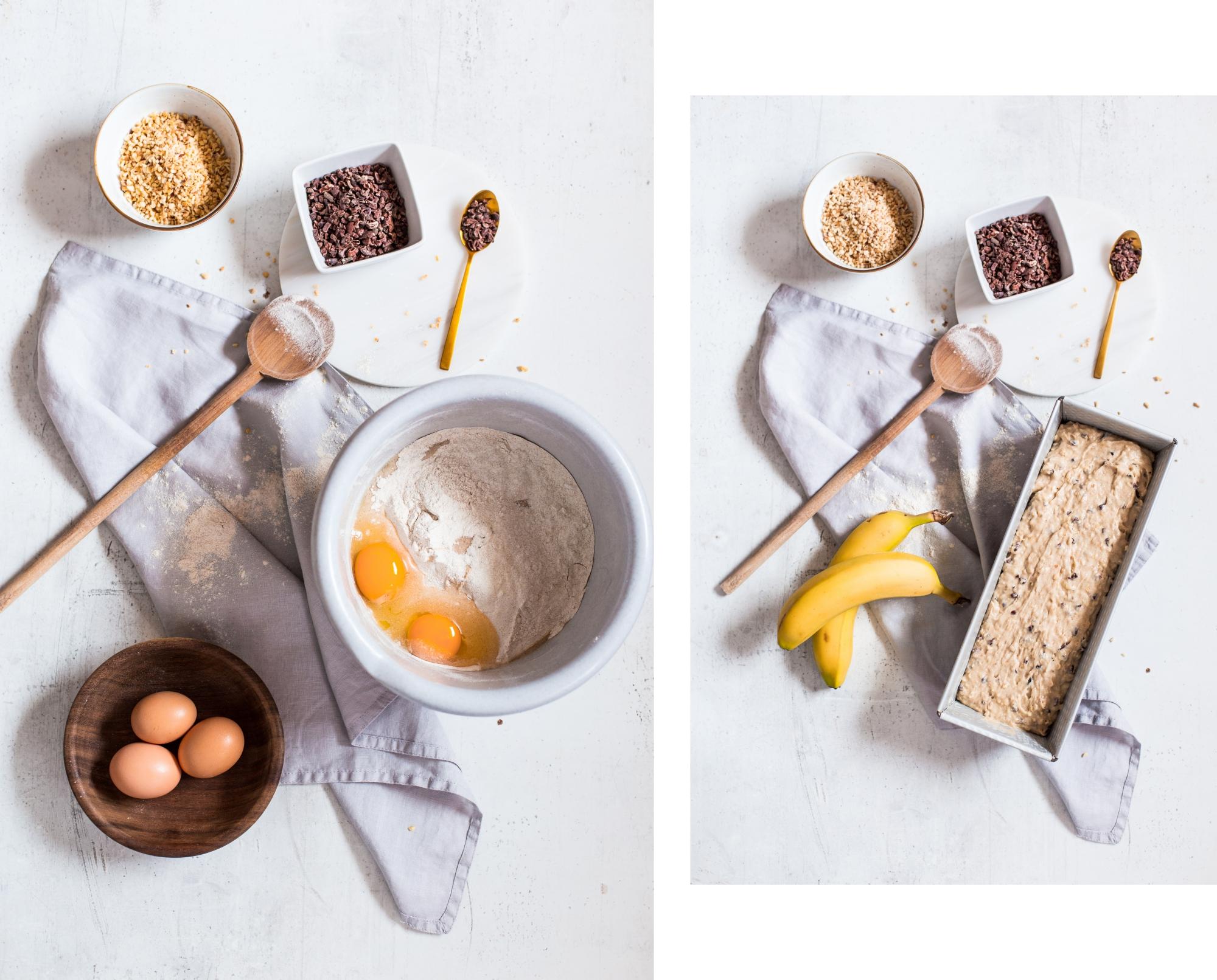 in high fashion laune | Glutenfreies Bananenbrot mit Haselnüssen und Kakaonibs