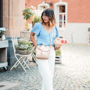 in high fashion laune | Outfit weisse Culottes Jeansbluse