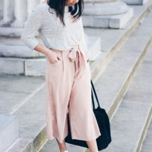 Outfit / Culotte Rosa